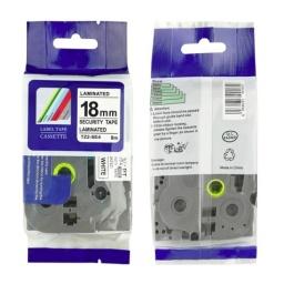 Cinta Compatible CTZ2-SE4 18mm de seguridad Negro/Blanco