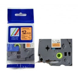 CINTA COMPAIBLE TZ2-B31 12mm Negro / Naranja Fluorecente