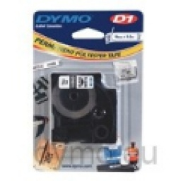 CINTA DYMO D1  Permanente  19mmX5.5m Negro/Blanco