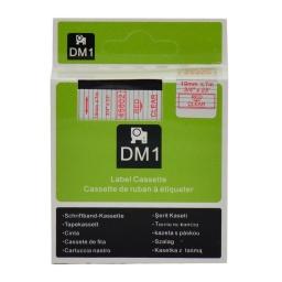 CINTA COMPATIBLE DM1 45802 19mm ROJO/TRANSPARENTE