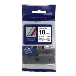 CINTA Compatible CTZ2-241 18mm Negro/Blanco