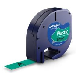 CINTA DYMO LT PLASTICA Negro/Verde Fluo