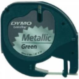 CINTA DYMO LT METALICA Negro/Verde