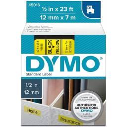 CINTA D1 DYMO 45018 12mm NEGRO/AMARILLO