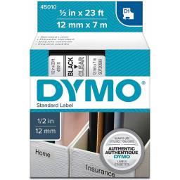 CINTA D1 DYMO 45010 12mm NEGRO/TRANSPARENTE