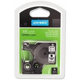 CINTA de Nylon Flexible DYMO D1 16953 12mmX3.5m Negro/Blanco
