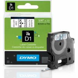 CINTA D1 DYMO 6MM NEGRO/TRANSP