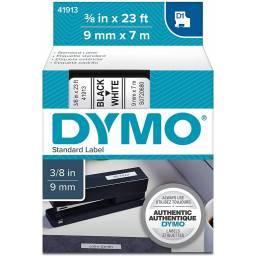 CINTA D1 41913 DYMO 9mm NEGRO/BLANC
