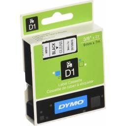 CINTA DYMO D1 40910 9mm NEGRO/TRANSPARENTE