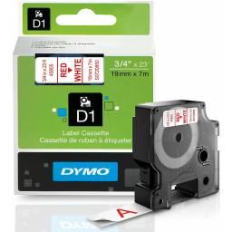 CINTA DYMO D1 45805 19mm ROJO/BLANCO