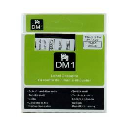 CINTA COMPATIBLE DM1 45803 19mm NEGRO/BLANCO