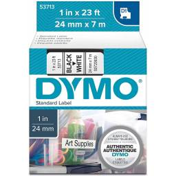 CINTA D1 DYMO 53713 24mm NEGRO/BLANCO