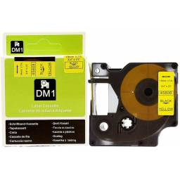 CINTA COMPATIBLE DM1 45808 19mm NEGRO/AMARILLO