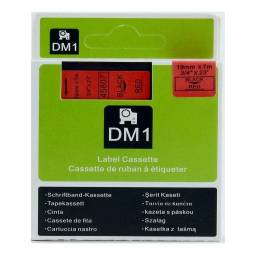 CINTA Compatible DM1 45807 19mm NEGRO/ROJO