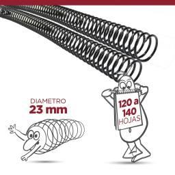 ESPIRAL PLASTICO 23 MM - PACK X 60