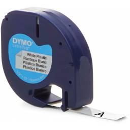 CINTA PLASTICA DYMO LETRATAG LT91331 12mmX4m Negro/Blanco