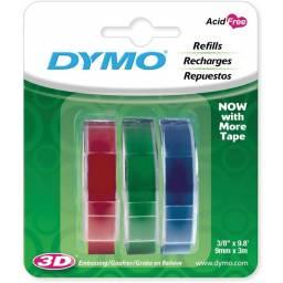 Cinta de relieve para Dymo Organizer Express Pack x3 colores