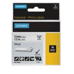 CINTA RHINO VINILO 12mm 5,5m  Negro/Blanco