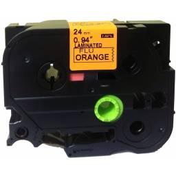 CINTA COMPATIBLE CTZ2-B51 24mm x 5m Negro/Naranja Fluo
