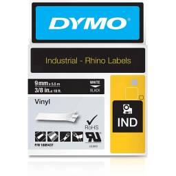 Cinta Vinilo Dymo Rhino D1 1805437 9mmX5,5m Blanco/Negro