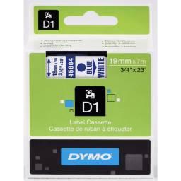 CINTA DYMO D1 45804 19mmX7m Azul/Blanco