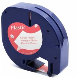 Cinta Plástica Compatible CLT91333FW 12mmX4m NegroFlores