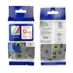 CINTA COMPATIBLE CTZ2-232 12mmX8m  Rojo/Blanco