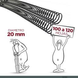 ESPIRAL PLASTICO 20 MM - PACK X 70
