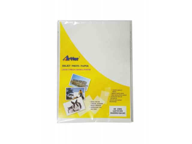 Photo Paper A4 230Grs. Glossy. Simple Faz