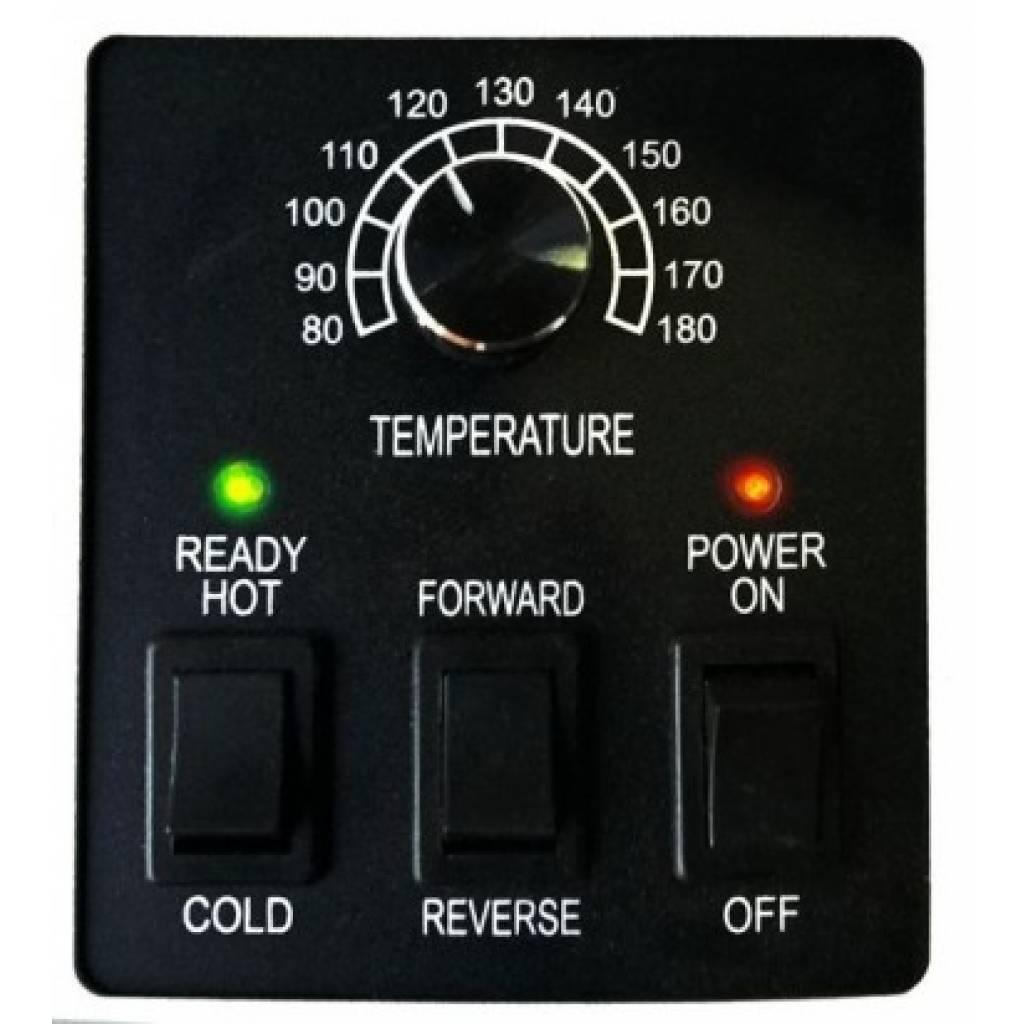 Tiene un botón de reversa en caso de atascos.