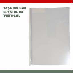 TAPA UNIBIND CRYSTAL A4 VERTICAL - SCORED